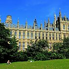 Park View, Palace of Westminster London by Avril Harris