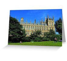 Park View, Palace of Westminster London Greeting Card