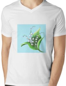Lilies of the Valley flowers Mens V-Neck T-Shirt