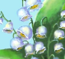Lilies of the Valley flowers Sticker