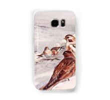 Winter Scene with Snow Buntings Samsung Galaxy Case/Skin