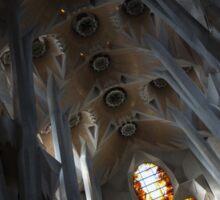 The Fascinating Interior of Sagrada Família - Antoni Gaudi's Masterpiece Sticker