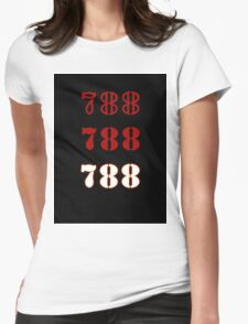 H.I.S.S. Numbers sticker alternative Womens Fitted T-Shirt