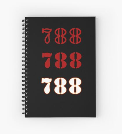 H.I.S.S. Numbers sticker alternative Spiral Notebook