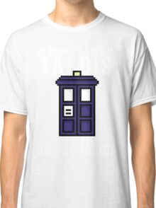 """A book is like a Tardis, it's bigger on the inside"" Classic T-Shirt"