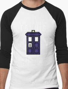 """""""A book is like a Tardis, it's bigger on the inside"""" Men's Baseball ¾ T-Shirt"""