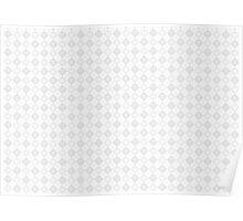 Kingdom Hearts logos pattern white Poster