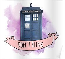 "TARDIS ""don't blink"" Poster"