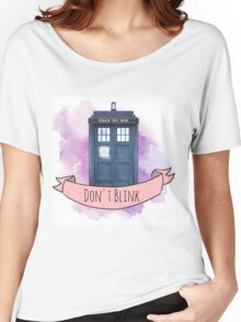 "TARDIS ""don't blink"" Women's Relaxed Fit T-Shirt"