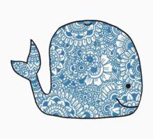 Whale: Blue Kids Tee