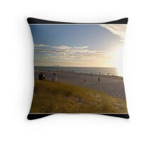 The Last Warmth of the Day Throw Pillow