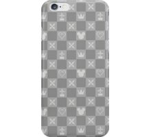 Kingdom Hearts logos pattern grey iPhone Case/Skin