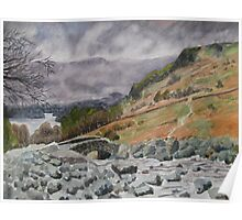 Ashness Bridge, Borrowdale, Lake Derwent, Cumbria Poster