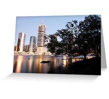 Brisbane City from Kangaroo Point, QLD Greeting Card