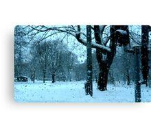 Wet Snow of Gothenburg Canvas Print