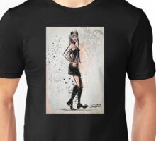 Twiggy, Art, decor, illustration, drawing, poster, print, model, leslie lawson, joe badon Unisex T-Shirt