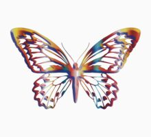 Multi Coloured Butterfly Kids Clothes