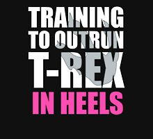 Outrun a T-Rex - White text Women's Tank Top
