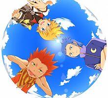 Ventus, Lea and Isa - Kingdom Hearts : Birth By Sleep by Laminekun