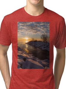 Sunshine on the Ice - Lake Ontario, Toronto, Canada Tri-blend T-Shirt