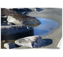 Tidal Pool at the North Jetty, Ocean Shores, Washington Poster