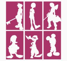 Kingdom Hearts - Character Roster (Pink) by SvenjaMarc