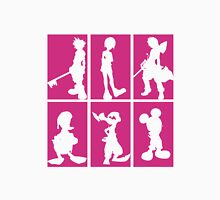 Kingdom Hearts - Character Roster (Pink) Unisex T-Shirt