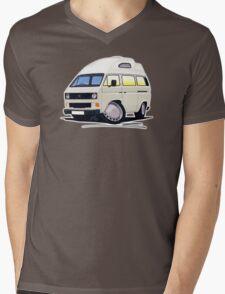 VW T25 / T3 (High Top) White Mens V-Neck T-Shirt