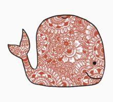 Whale: Orange  Kids Tee