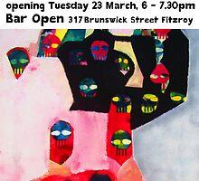 ROY WILKINS DEF DISKO exhibition of paintings by Roy B Wilkins
