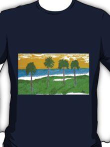 Palm Trees Golf Course Ocean T-Shirt