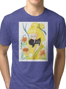 Portrait of a lady cat Tri-blend T-Shirt