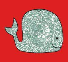 Whale: Teal Kids Tee