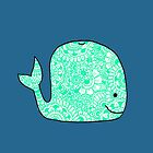 Whale: Teal by MRLdesigns