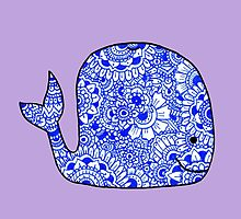 Whale: Royal Blue by MRLdesigns
