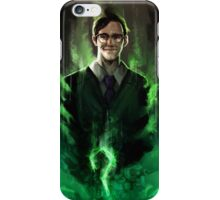 Riddle me this! iPhone Case/Skin