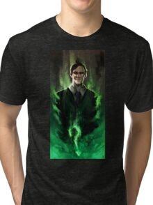 Riddle me this! Tri-blend T-Shirt