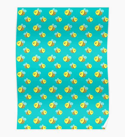 Bees - Pattern Poster