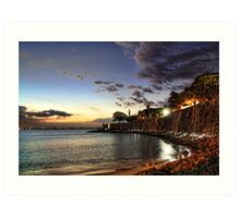old san juan night Art Print