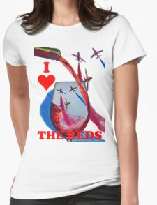 Red Arrows Tee Shirt - Wineglass Womens Fitted T-Shirt