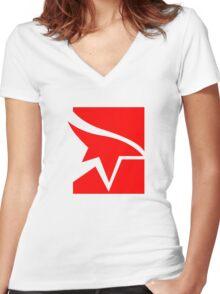 Mirror's Edge Logo Women's Fitted V-Neck T-Shirt