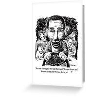 Barack Obama cartoon Greeting Card