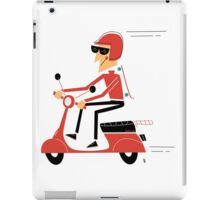 Skater on a scooter iPad Case/Skin