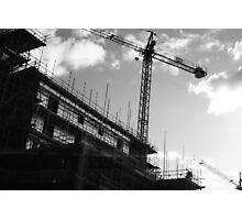 Crane & Sky Photographic Print