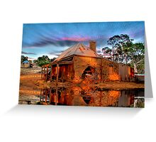 Reflections Of Ruin Greeting Card