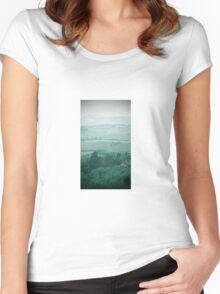 abstract hilly landscape Women's Fitted Scoop T-Shirt