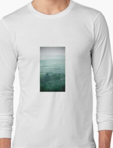 abstract hilly landscape Long Sleeve T-Shirt