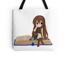 Nerdy Chibi With A Book  Tote Bag