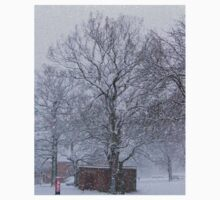 Trees and Post Box in the Snow One Piece - Short Sleeve