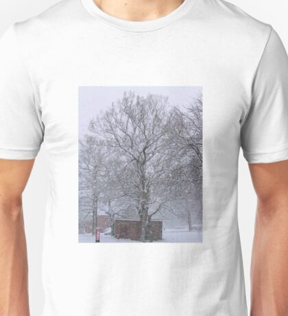 Trees and Post Box in the Snow Unisex T-Shirt